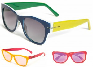 Sunglasses with colourful rims