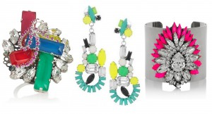 Erickson Beamon, Tom Binns and Shourouk jewellery