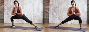 Side to Side Lunge action